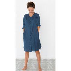 JO shirt dress in Steel Blue