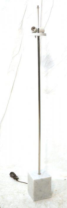Marble Base Modernist Chrome Floor Lamp. : Lot 181