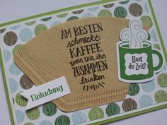 Einladung zum Kaffee – Glückwunschkarten – Schule & Kindergarten – Mit Liebe ha… Invitation to coffee – greeting cards – school & kindergarten – handmade with love in Peine, Germany by alberta's paper stories Free Invitation Cards, Brunch Invitations, Anniversary Invitations, Wedding Invitations, Valentine Gift For Wife, Valentines Day Party, New Baby Greetings, Creative Christmas Gifts, Birthday Brunch