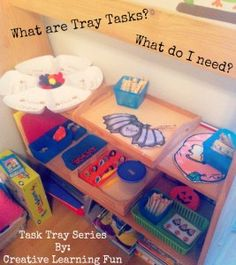 What are task trays and what do you need to make your own? A new task tray series by Creative Learning Fun