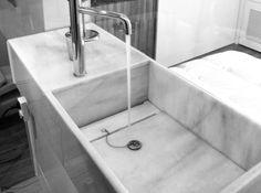 Lavabo MARMOL MACAEL BLANCO_ http://estudioargensolacuatro.com/portfolio-items/diseno-lavabo-padilla/