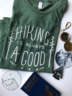 HIking is Always a Good Idea Tee by Dear Summit Supply Co. // eco-friendly, hand-printed t-shirt that's a great way to show off your love of hitting the trails and exploring the outdoors! Great for everyday wear and for your next hiking trip, too. Preppy Style, Style Me, How To Have Style, Cool Outfits, Trendy Outfits, Fashion Outfits, Fashion Clothes, Beautiful Outfits, Womens Fashion
