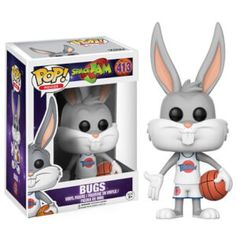 Vinyl Figure: Get ready to jam! Get ready for the ultimate game with a familiar character from Space Jam. This Space Jam Bugs Bunny Pop! Vinyl Figure measures approximately 3 tall and comes packaged in a window display box. Funk Pop, Pop Figurine, Figurines Funko Pop, Funko Figures, Space Jam, Bugs Bunny, Looney Tunes, Pop Vinyl Figures, Funko Pop Dolls