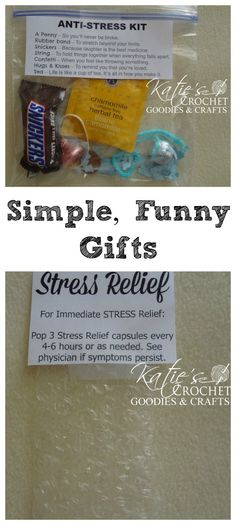 Fantastic Tips and Tricks: Stress Relief Gifts Bath Bombs living with anxiety god.Anxiety Kids Quotes stress relief before bed bedtime yoga. Joke Gifts, Funny Gifts, Funny Secret Santa Gifts, Ami Secret, Secret Pal, Stress Relief Gifts, Neuer Job, Staff Appreciation, Simple Gifts