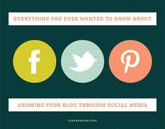 Everything You Ever Wanted To Know About Growing Your Blog Through Social Media | Ciera Design | Brand Identity + Graphic Design
