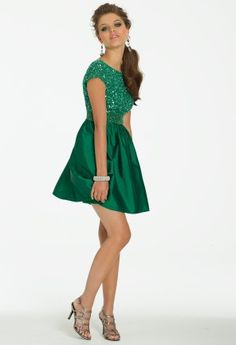 Short Taffeta Party Dress from Camille La Vie and Group USA #homecoming #prom