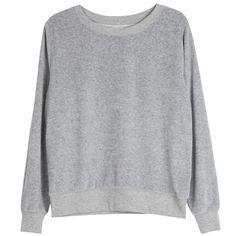 Love Sweatshirt in cotton velour, Basel grey   Arela Shop