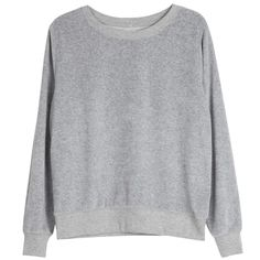 Love Sweatshirt in cotton velour, Basel grey | Arela Shop