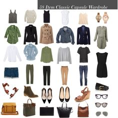 38 Item Classic Capsule Wardrobe, created by designismymuse on Polyvore