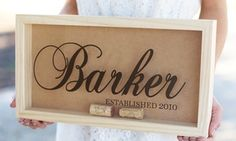 Cork keepers, ideal for wedding gifts, can be personalized with names, initials, and other designs