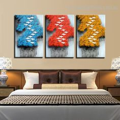 This graceful colored flying birds forest wall art set is one of the best decor for your bedroom walls.  #interiorsinspo #fineart #wallart #artistic Stretched Canvas Prints, Canvas Art Prints, Wall Art Sets, Wall Art Decor, Online Art Store, 3 Piece Canvas Art, Blue Pigment, Contemporary Frames, Flying Birds