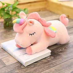 Pastel Color Unicorn Stuffed Dolls Soft Plush Toys for Kids Christmas – Delite Shopping Unicorn Doll, Unicorn Kids, Cute Unicorn, Rainbow Unicorn, Unicorn Stuffed Animal, Unicorn Pillow, Christmas Gifts For Kids, Christmas Birthday, Beach Kids