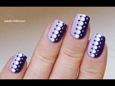 Purple Dotting Tool : In today's video I show you an easy dotticure nail art in the shades of purple. Dotting Tool Designs, Nail Art Dotting Tool, Dot Nail Designs, Purple Nail Designs, Nail Art Designs Videos, Dot Nail Art, Simple Nail Art Designs, Nail Art Videos, Beautiful Nail Designs