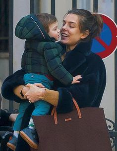 Charlotte Casiraghi and Raphael her son