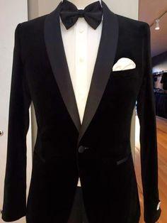 Black Shawl Collar One Button Men Suits Fashion Tuxedos Terno Slim Fit Masculino Blazer Men (Jacket+Pant+Handkerchiefs+Bowtie) Mens Wedding Ties, Best Wedding Suits, Wedding Tux, Groom Tuxedo, Tuxedo For Men, Tuxedo Man, Formal Suits, Formal Wear, Velvet Dinner Jacket