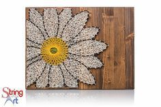 Daisy String Art Kit - Adult Crafts Kit, DIY Kit, Crafts Kit, Daisy Art, Daisy Lover Gift, Daisy Decor, all crafting supplies included by StringoftheArt