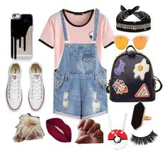 """🤘🏻"" by superella-1 on Polyvore featuring Converse, WithChic, Smashbox, Jaeger and Fallon"