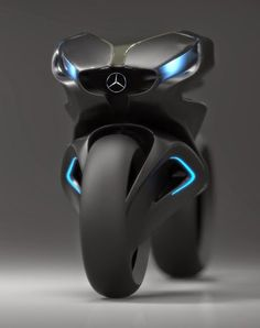#Mercedes #Motorcycle concept. Interesting, the handlebars act as a car's grill on the front.