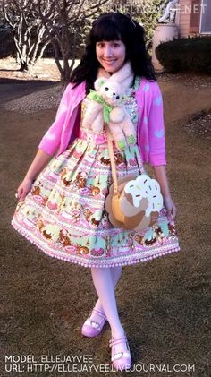 i want this whole outfit, except the weird stuffed toy around the neck thing.