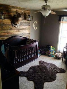 Hunting Lodge theme baby boy nursery
