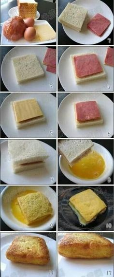 Jubii Mail :: Love food and drink? Here are popular Pins in food and drink this… Brunch Recipes, Breakfast Recipes, Breakfast Ham, Fast Breakfast Ideas, Breakfast Sandwiches, Brunch Ideas, Tasty, Yummy Food, Love Food