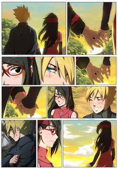 """"""" of borusara ✨ I have more but this is all I got in my phone 💦"""" Naruto Uzumaki Shippuden, Naruto Kakashi, Boruto And Sarada, Naruto Shippuden Characters, Naruto Anime, Naruto Comic, Naruto Cute, Manga Anime, Manga Art"""