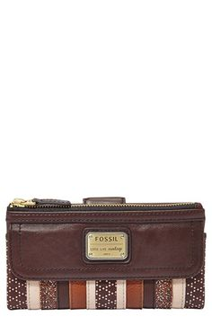 Fossil 'Emory' Leather Clutch Wallet