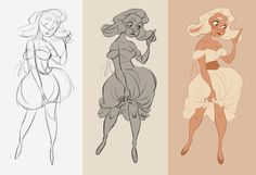 Lucerito: from sketch to line up by DianaMaRble on DeviantArt