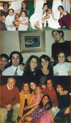 1986 - 2000, Princess Máxima with family (including step-sisters) and friends.