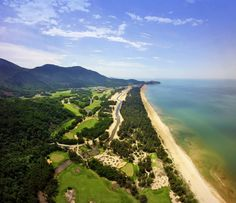 Golf: Laguna Lang Co, course by Nick Faldo Lang Co, Golf Courses, Country Roads, Group, Landscape, Natural, Beach, Design, Scenery