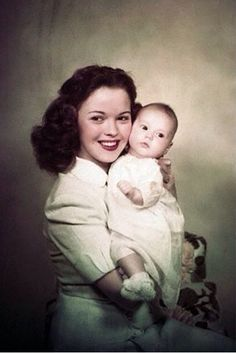 Shirley Temple and daughter.