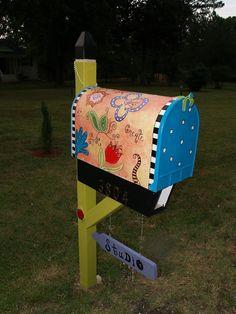 cute idea for mailbox #MailboxLandscape