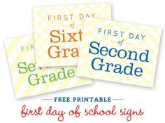 first day of school printables.