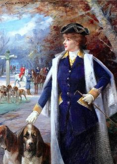 Abbéma, Louise (b,1853)- Sarah Bernhardt- Hunting with Hounds