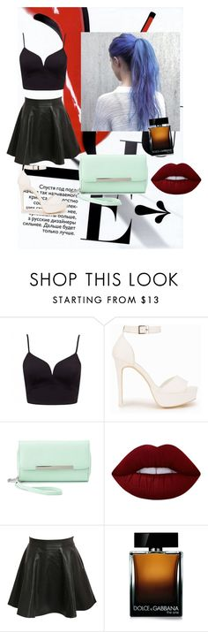"""""""~~~~"""" by gigi-xcx-493 ❤ liked on Polyvore featuring beauty, Forever New, Nly Shoes, Charlotte Russe, Lime Crime, Pilot and Dolce&Gabbana"""