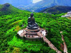 Tian Tan Buddha on Lantau Island, Hong Kong.... don't remember this! Time to go back!