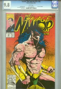 Namor, the Sub-Mariner #26. CGC Graded: 9.8. Written by John Byrne and drawn by Jae Lee. This is the first Jae Lee artwork with Marvel Comics.