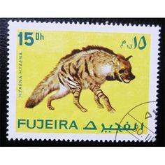 Fujeira, Wild Life, mammals, Hyaena, 15 Dh, 1972 used