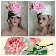 VINTAGE Cloche 60's JACK McCONNELL Millinery ROSE & LILY Ivory *MINT* NOS Hat | Clothing, Shoes & Accessories, Vintage, Vintage Accessories | eBay!