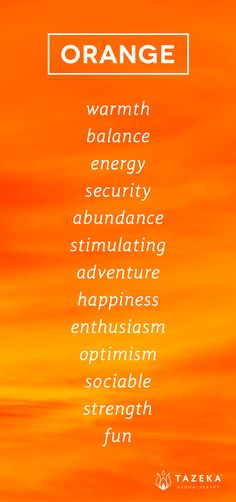 Orange Color Psychology http://www.tazekaaromatherapy.com