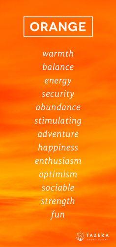 Orange Color Psychology http://www.tazekaaromatherapy.com