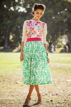 modest fashion and style pattern mixing, mixed prints polka dots, stripes, animal, graphic tznius hijab