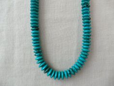Turquoise disc necklace, natural stone necklace, handmade necklace, special gift necklace,valentines day gift on Etsy, $22.00