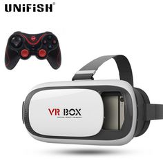 Find More 3D Glasses/ Virtual Reality Glasses Information about VR BOX 3D Glasses Enhanced Version Virtual Augmented Reality 3D Video Glasses For iPhone Smartphone + T3+ Bluetooth Controller,High Quality glasses frames face shape,China video camera glasses Suppliers, Cheap video glasses for ipod from UNIFISH Store on Aliexpress.com