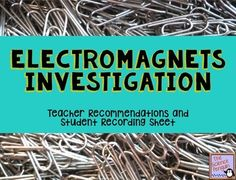 Free Electromagnets Investigation-- Test the strength of electromagnets