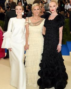 The triplet of elegance @toryburch @katebosworth and @zoeydeutch all in custom Tory Burch gowns for #metgala2017 via VOGUE THAILAND MAGAZINE OFFICIAL INSTAGRAM - Fashion Campaigns Haute Couture Advertising Editorial Photography Magazine Cover Designs Supermodels Runway Models