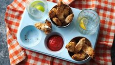 BBC - Food - Recipes : Baked chicken goujons