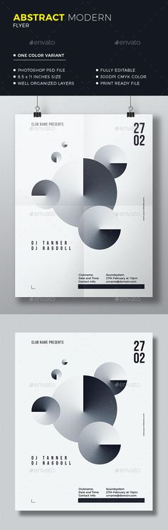 Clean Abstract Flyer