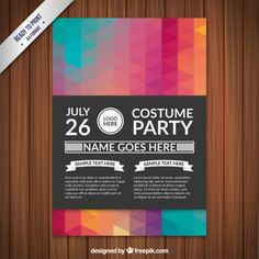 Costume party poster Free Vector