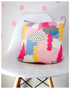 Our new cushions, love the funky clouds! #pinktulipdesigns www.pinktulipdesigns.bigcartel.com